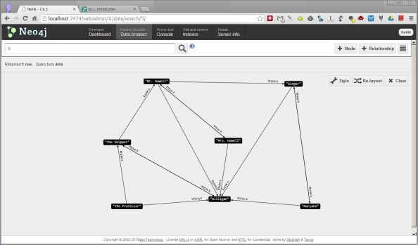 Neo4j Data Browser 2