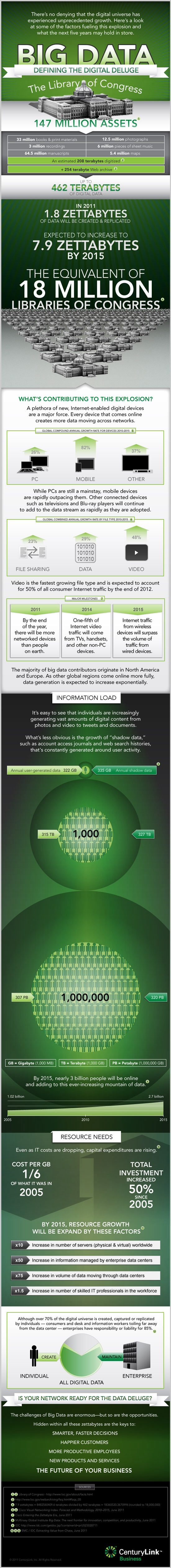 From CenturyLink: Infographic- Data Deluge