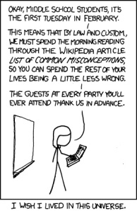 Xkcd: List of Common Miconceptions